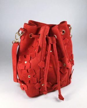 Kožená kabelka Lorra červená 01