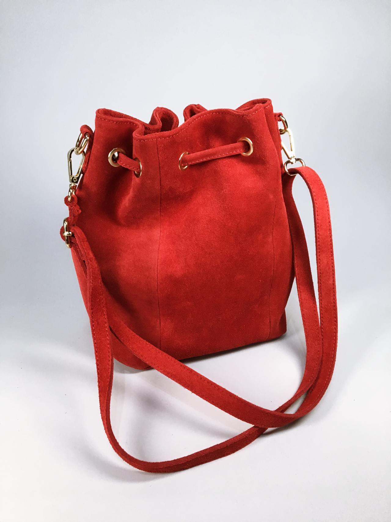 Kožená kabelka Lorra červená 03