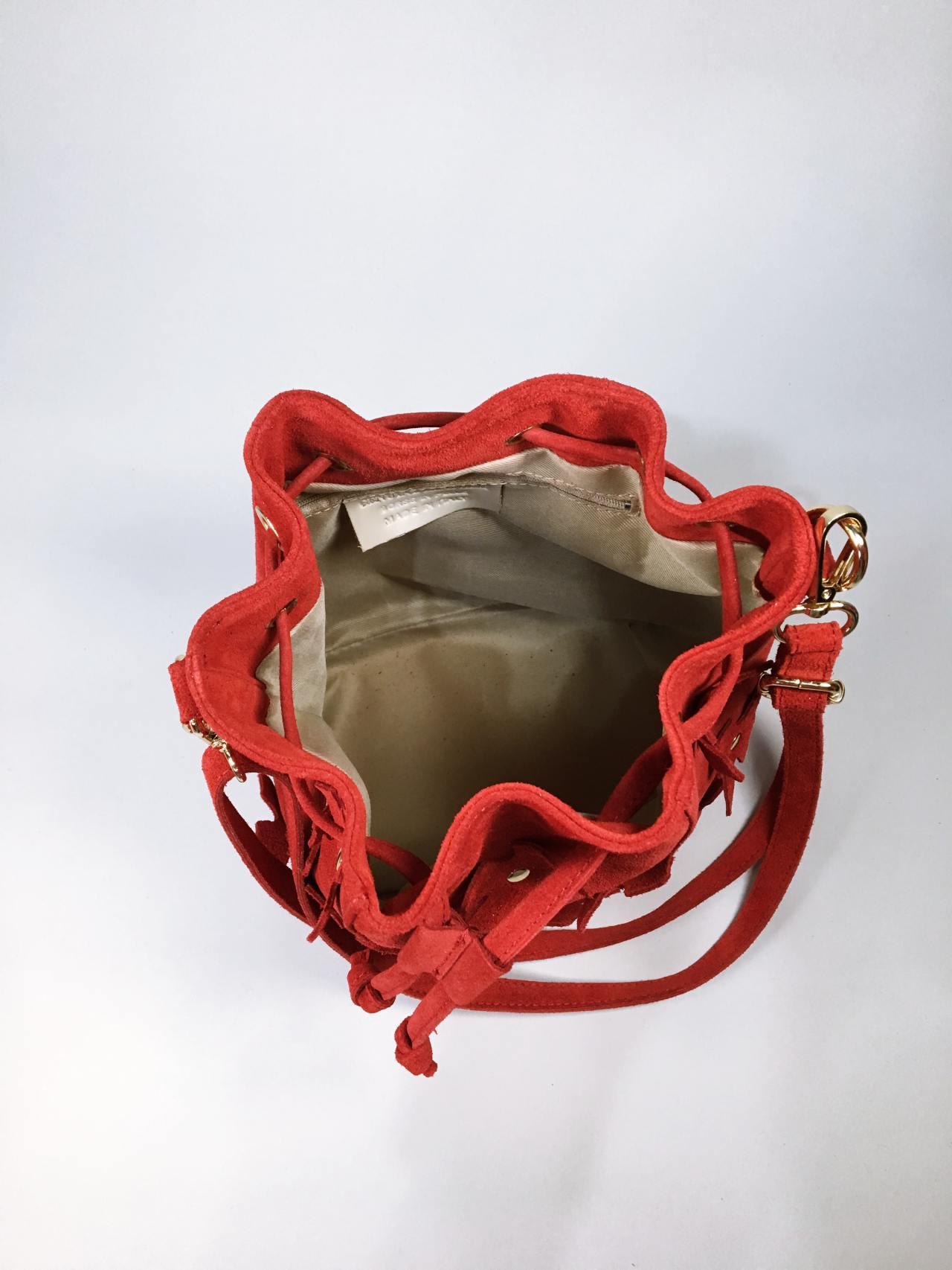 Kožená kabelka Lorra červená 05