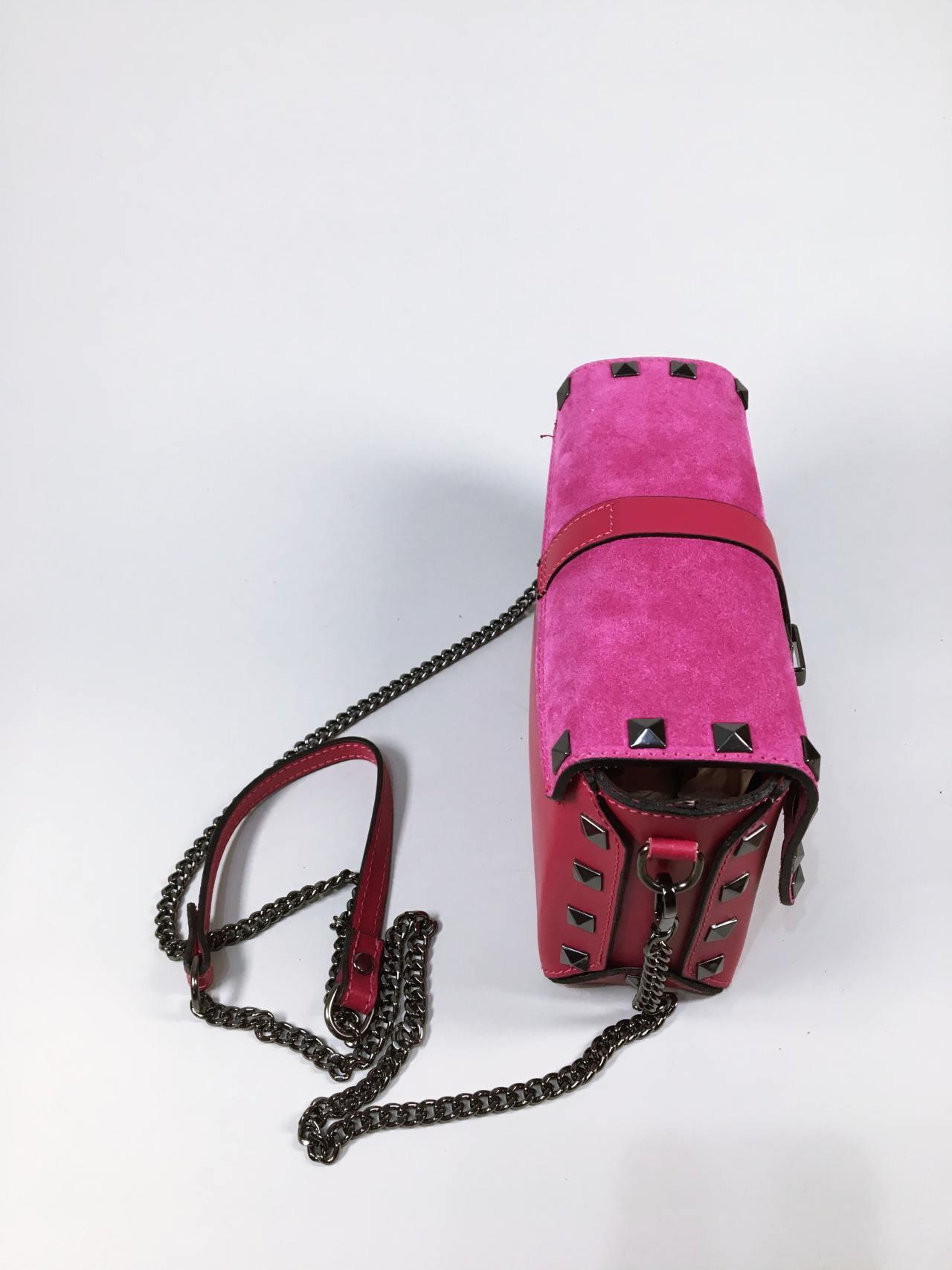 Kožená kabelka Lorry fuchsiová 03