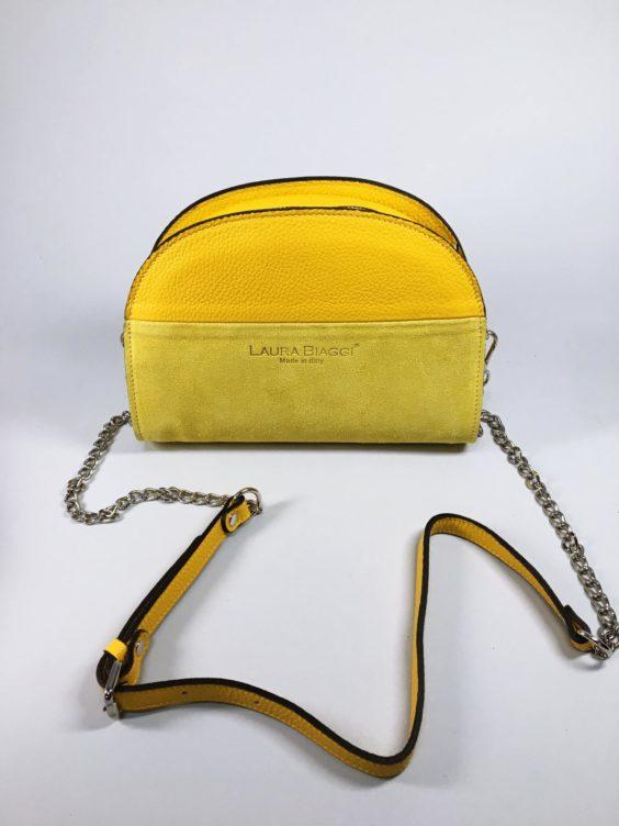 Kožená kabelka Sweet žlutá 01