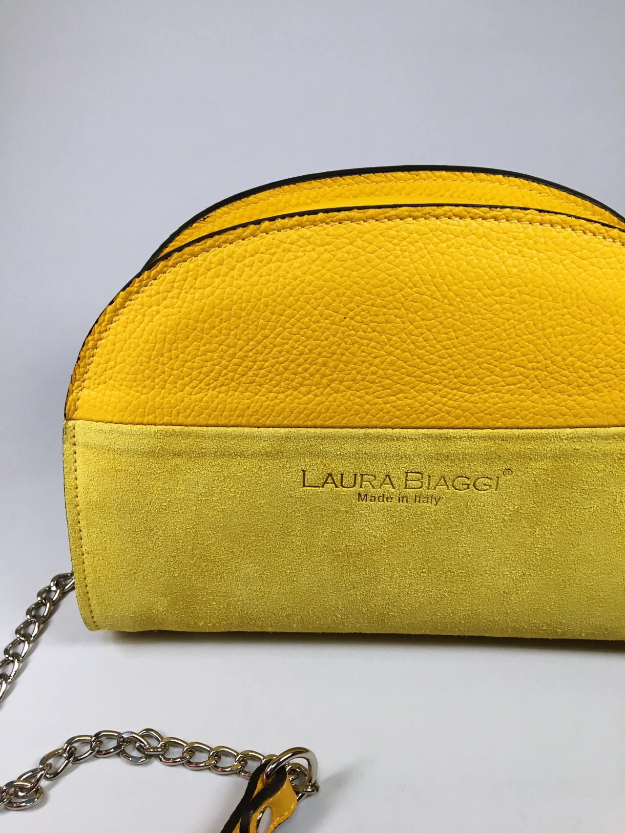 Kožená kabelka Sweet žlutá 02