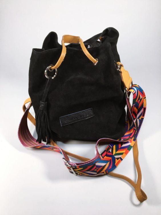 Kožená kabelka Tarra černá 01