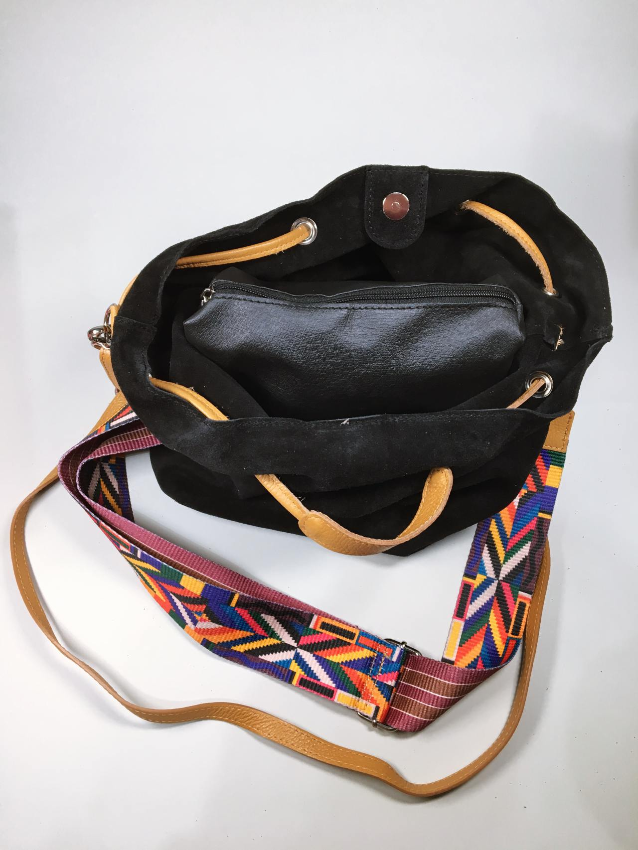 Kožená kabelka Tarra černá 04