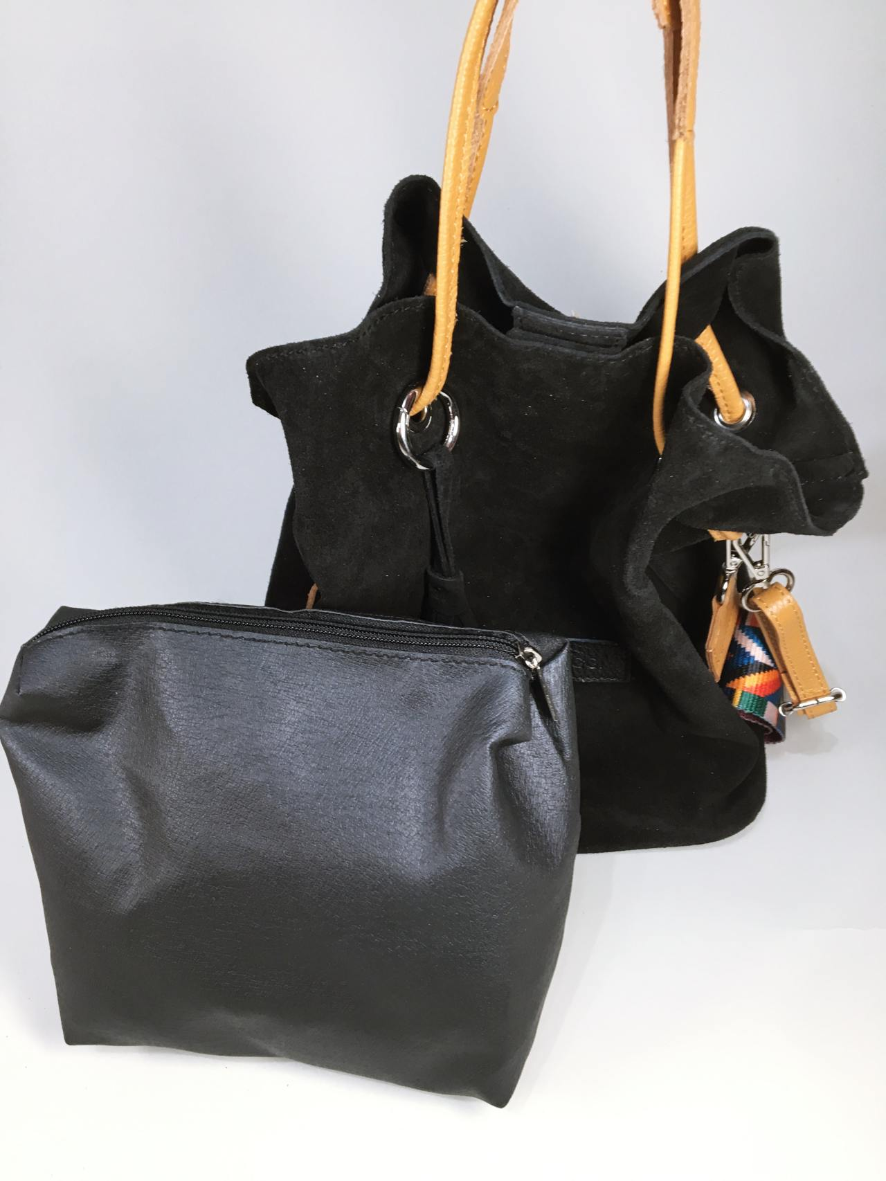 Kožená kabelka Tarra černá 05