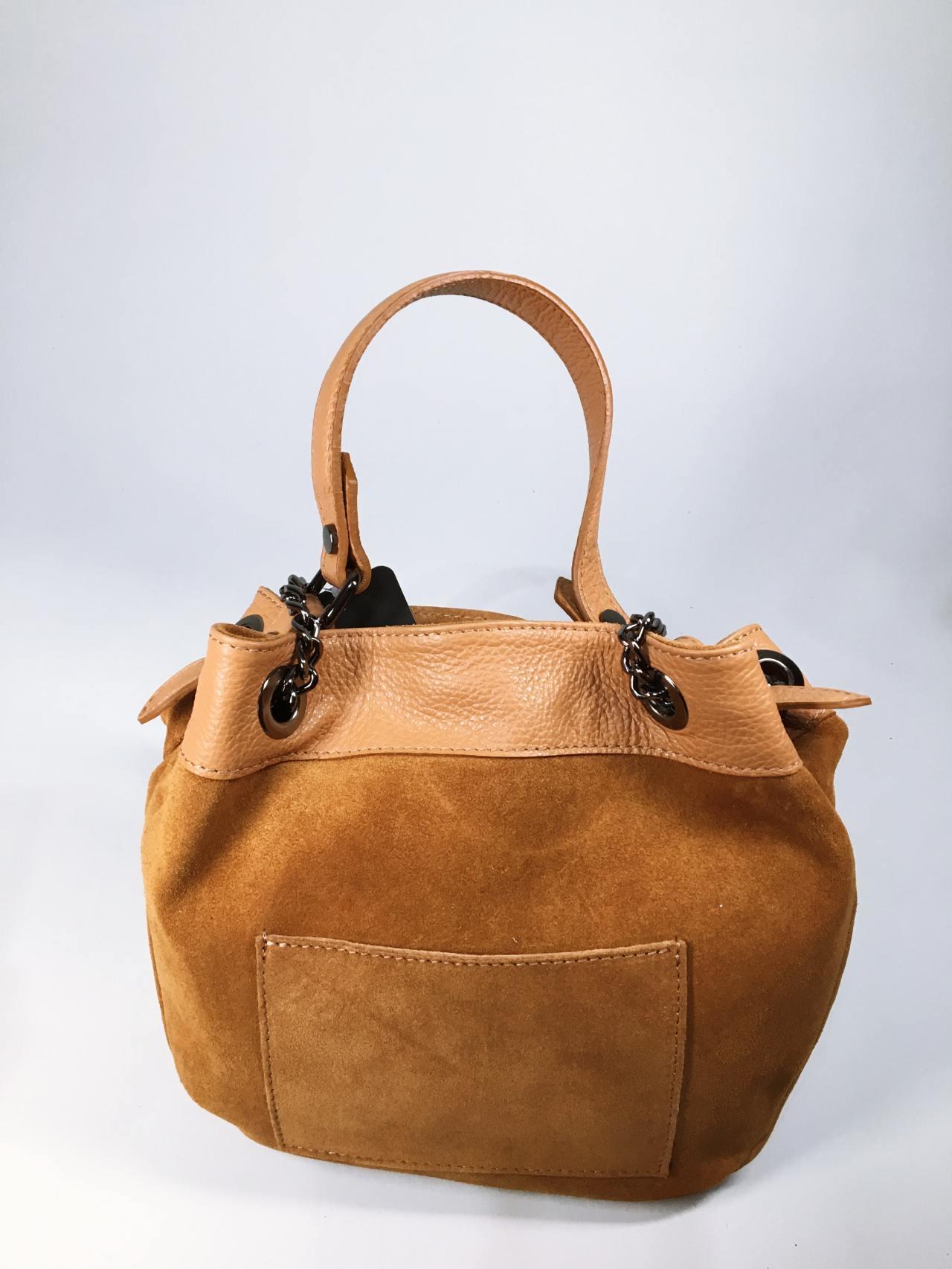Kožená kabelka Tillie hnědá 01