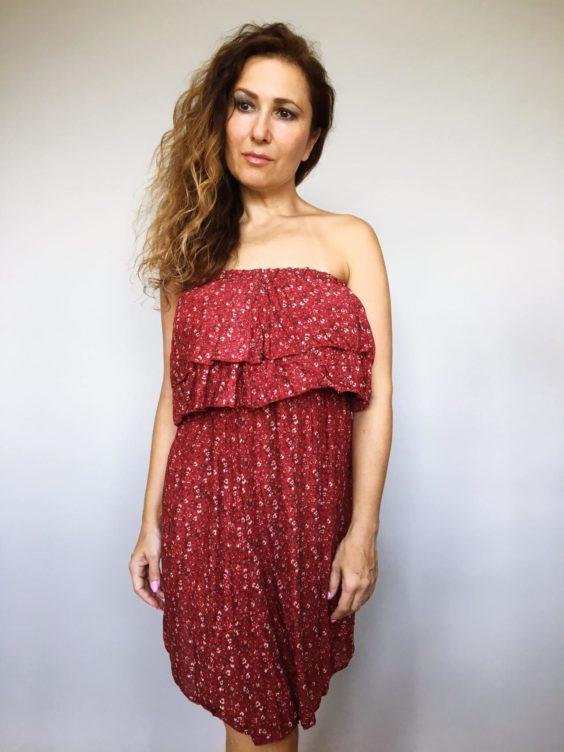 Šaty Bibie vínové 01