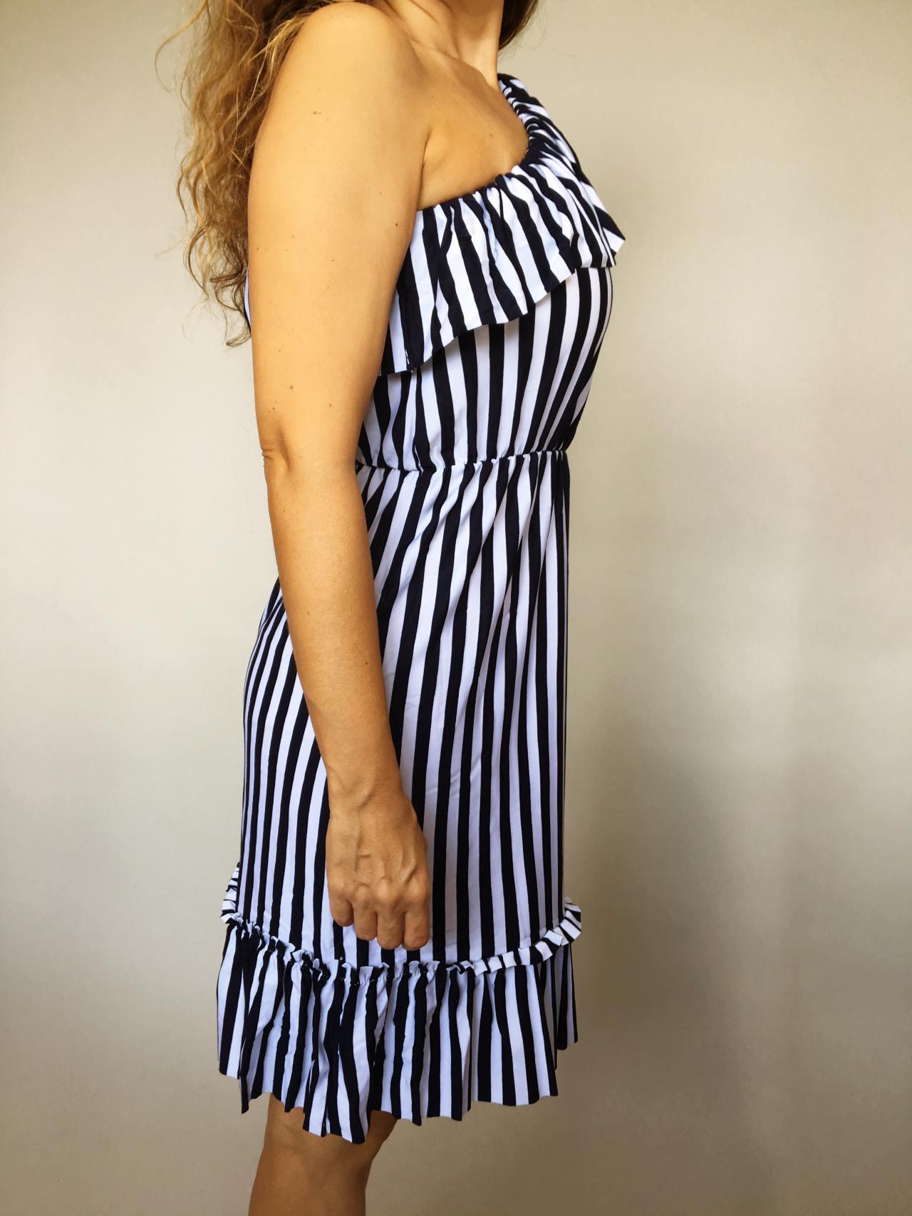 Šaty Corrie bílo modré 03