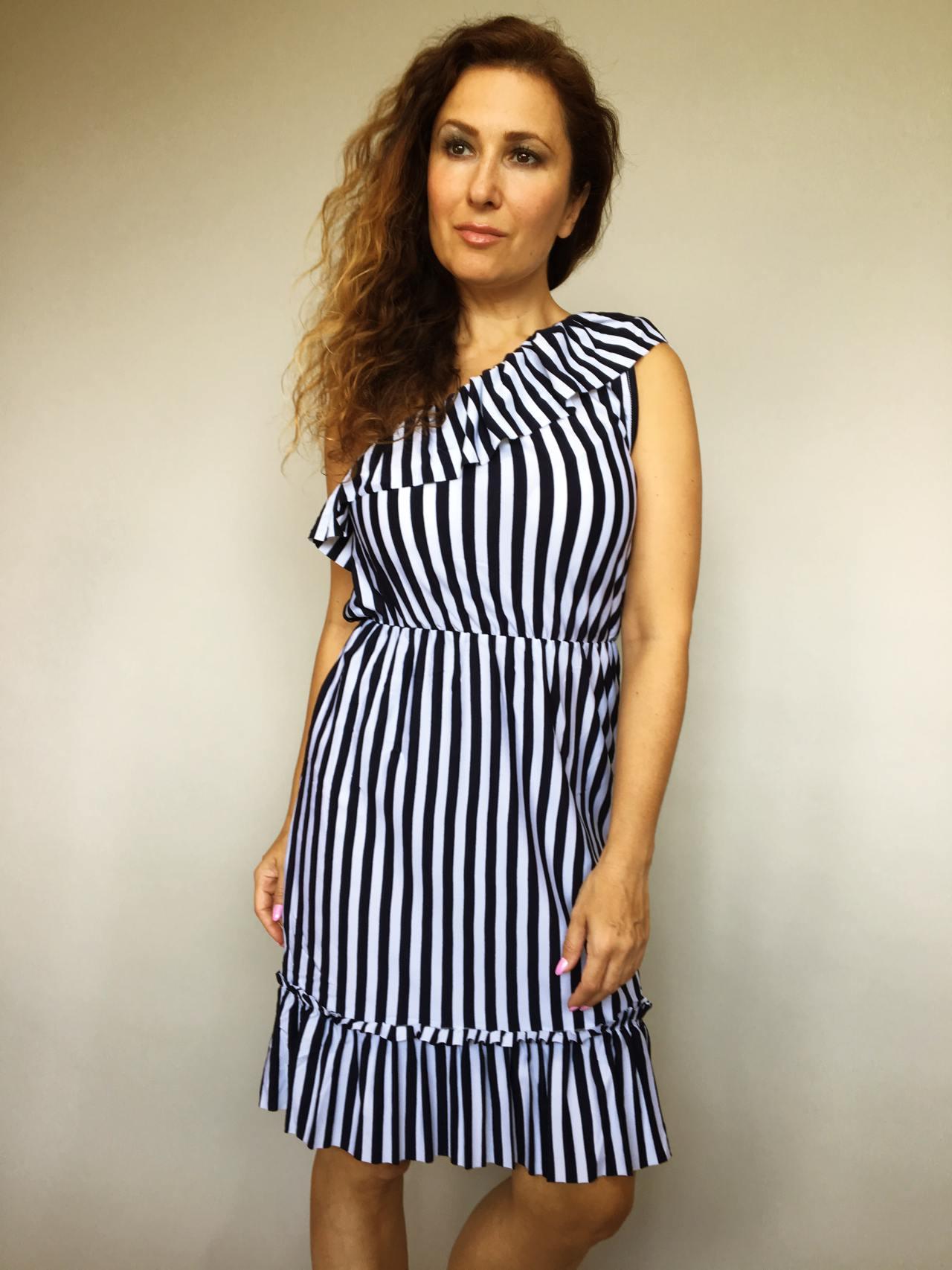 Šaty Corrie bílo modré 04