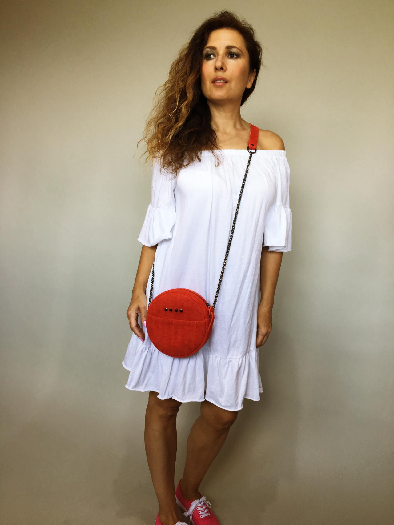 Šaty Frill bílé 01