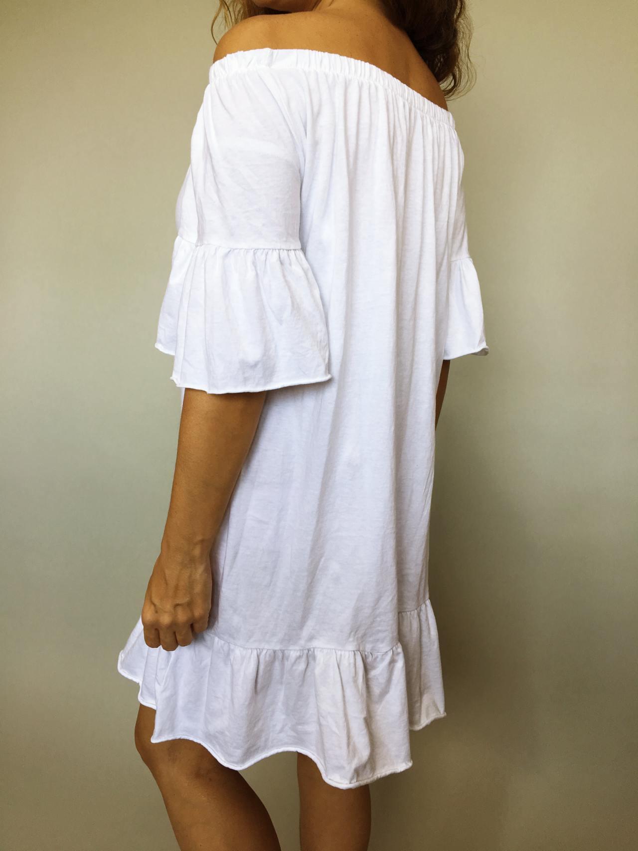Šaty Frill bílé 03