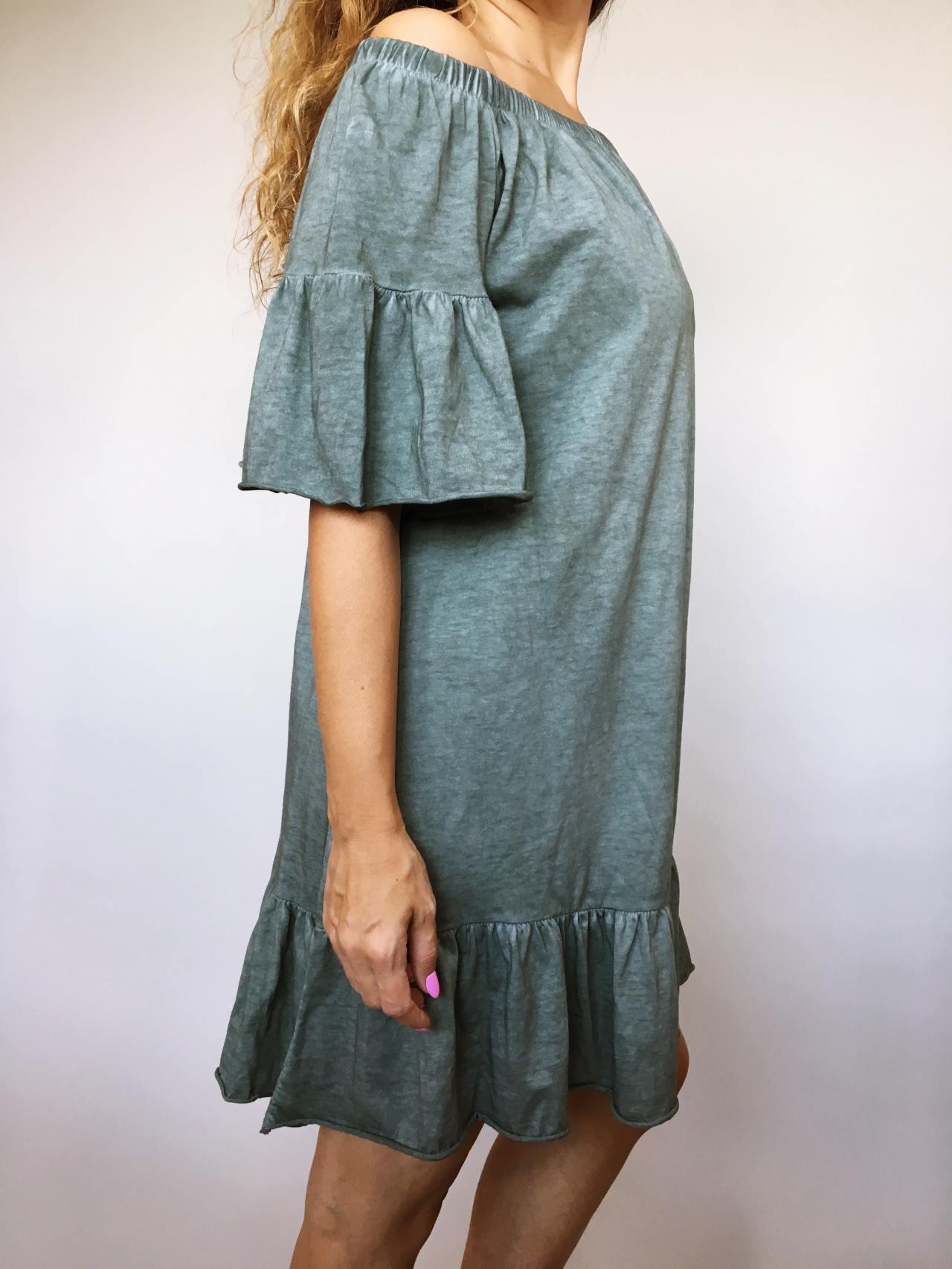 Šaty Frill khaki 03