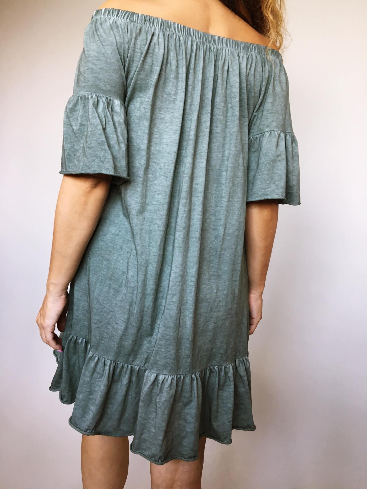 Šaty Frill khaki 05