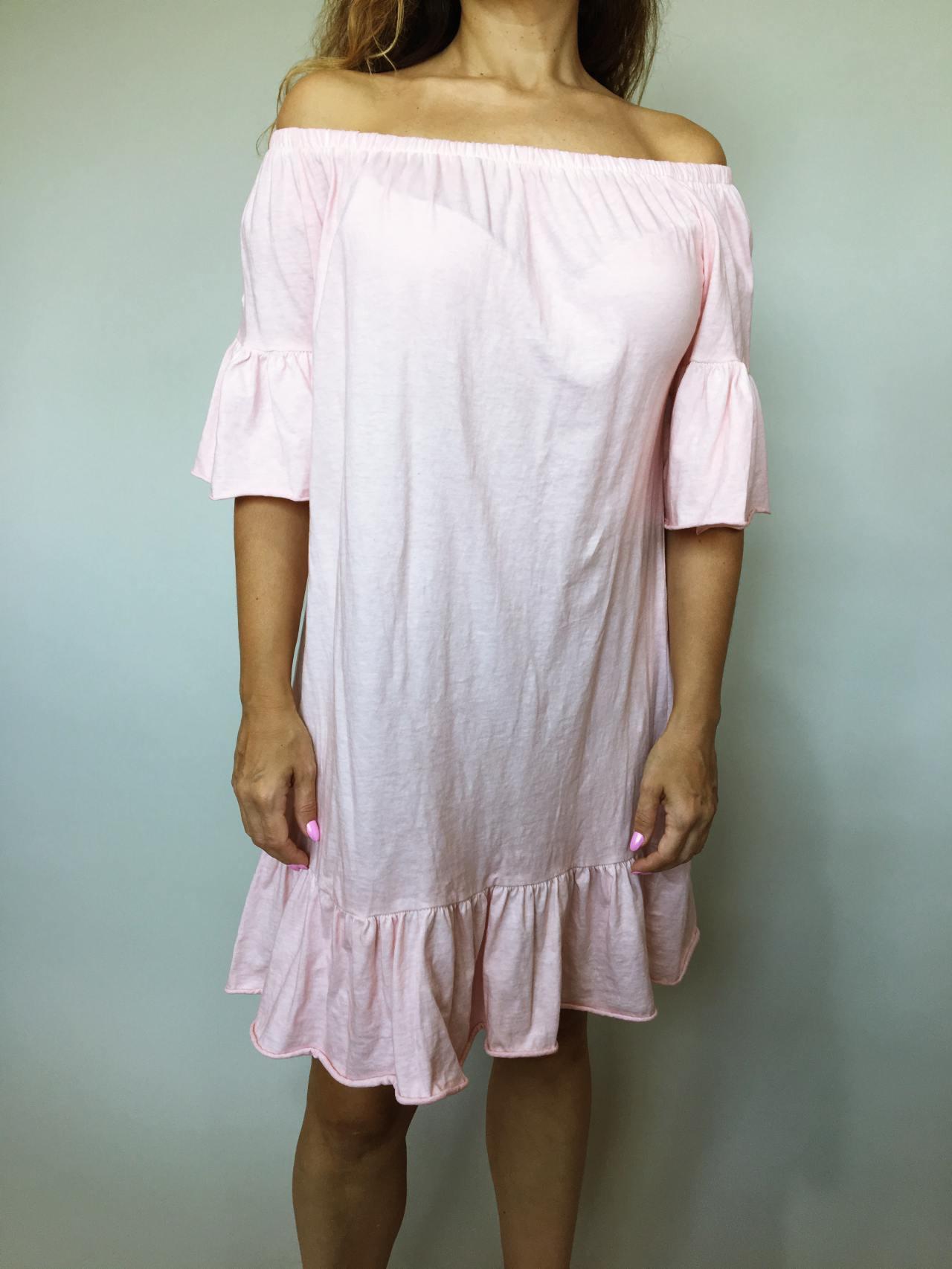 Šaty Frill pudrové 03