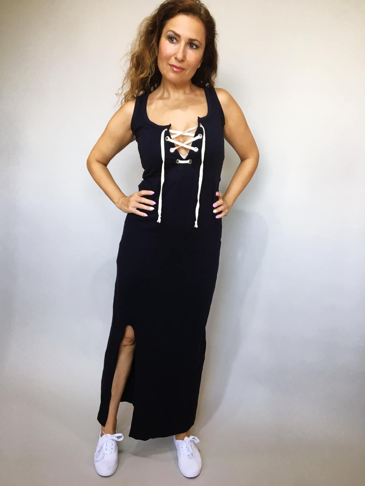 Šaty Goldie tmavě modré 02