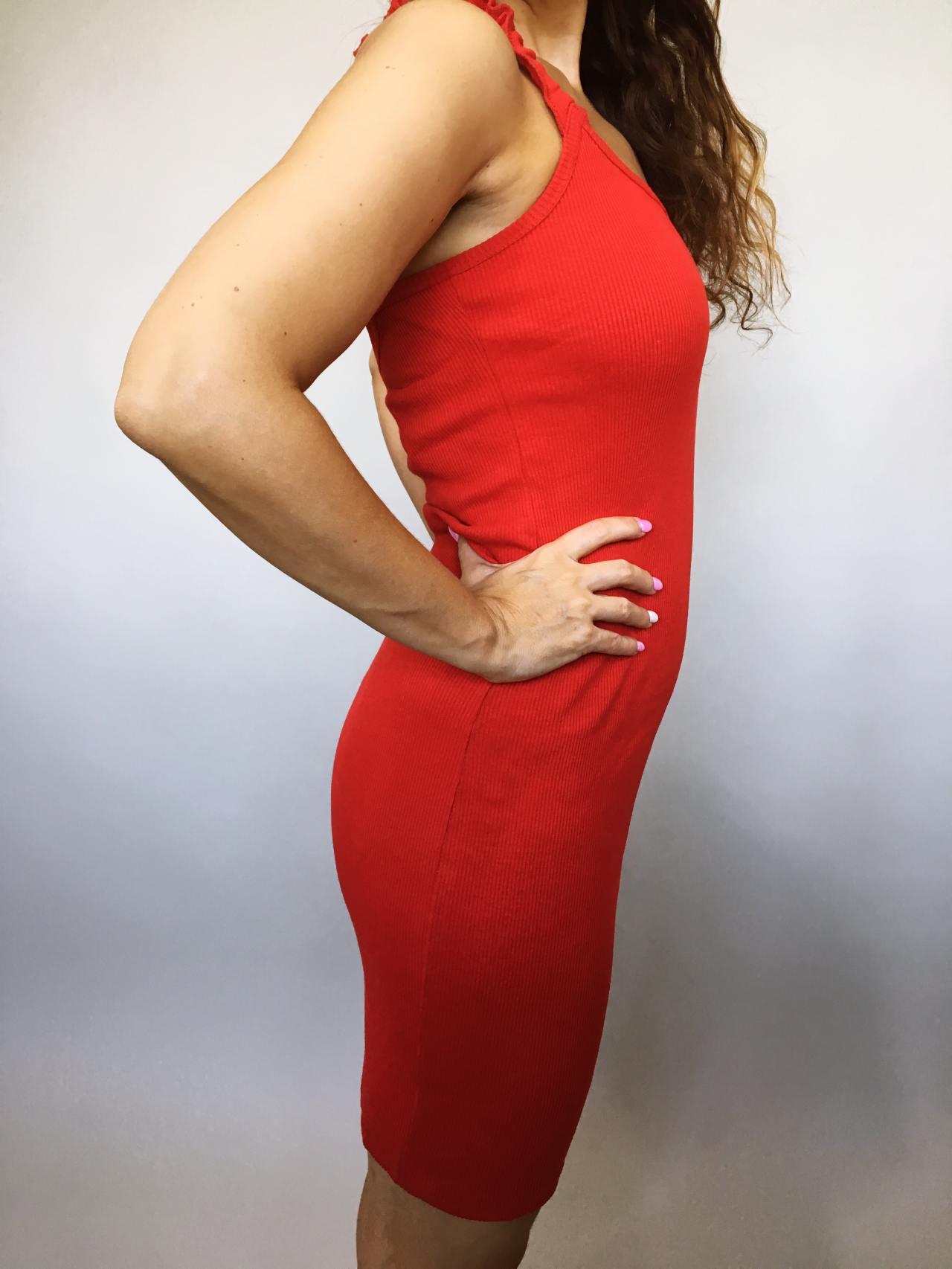 Šaty Hannah červené 03
