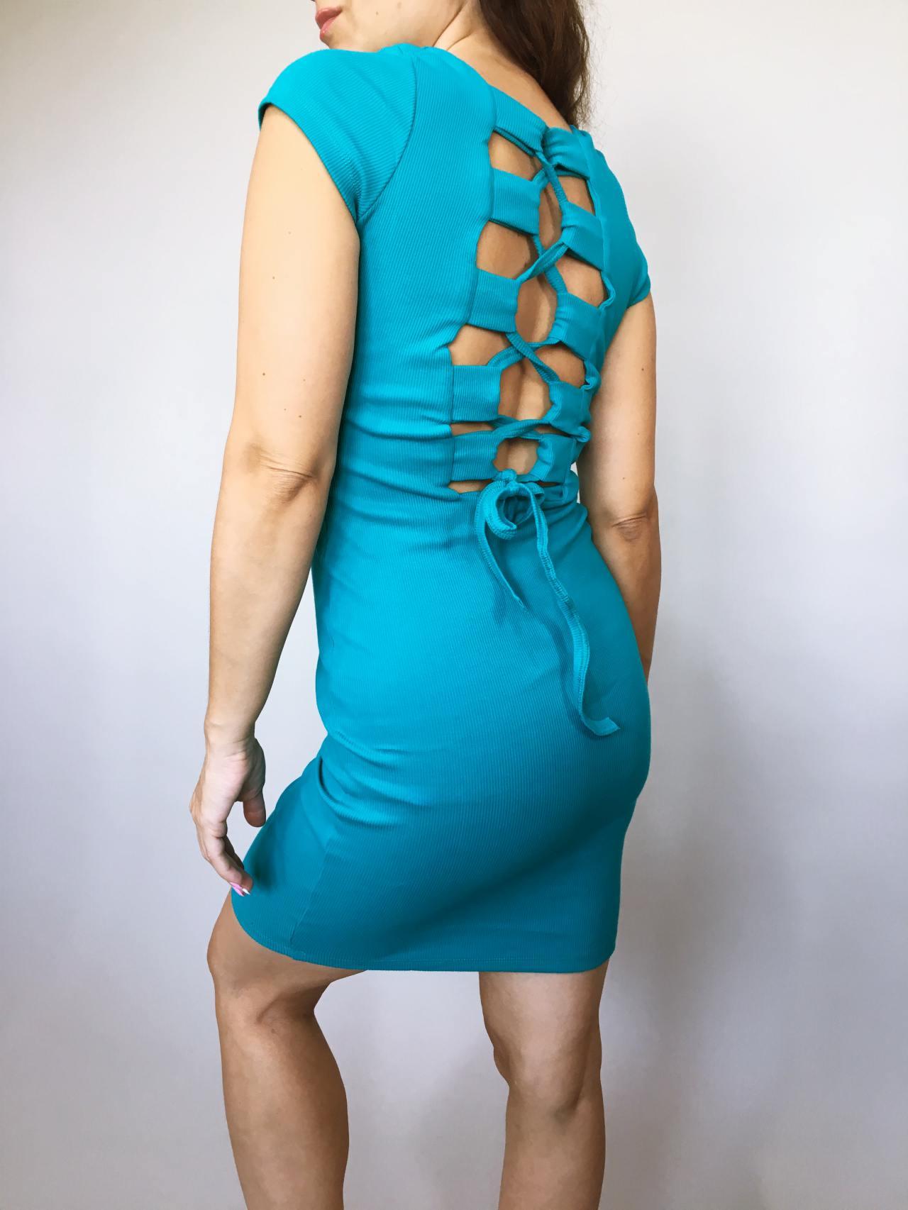 Šaty Jennifer modré 04