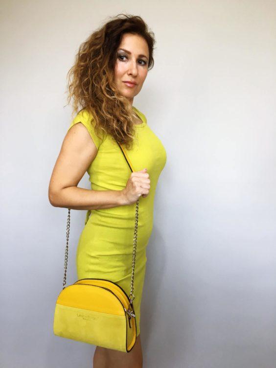 Šaty Jennifer žluté kari 01