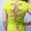 Šaty Jennifer žluté kari 04
