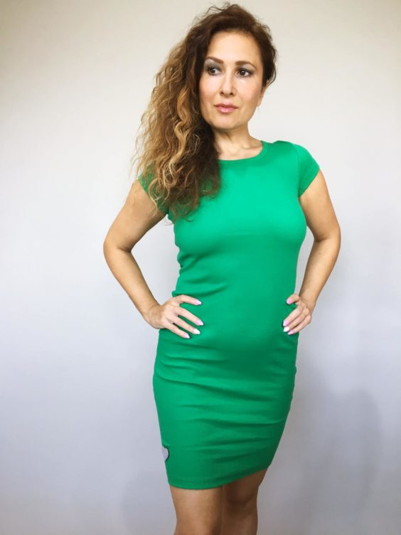 Šaty Jennifer zelené 01