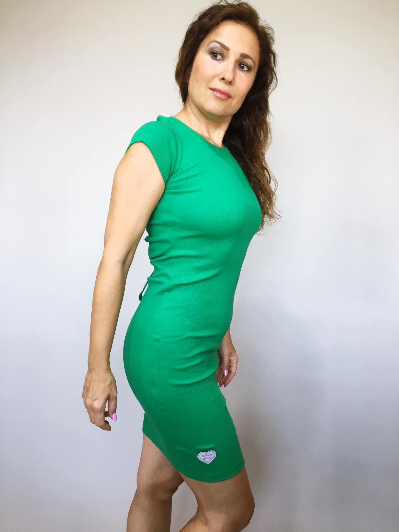 Šaty Jennifer zelené 02