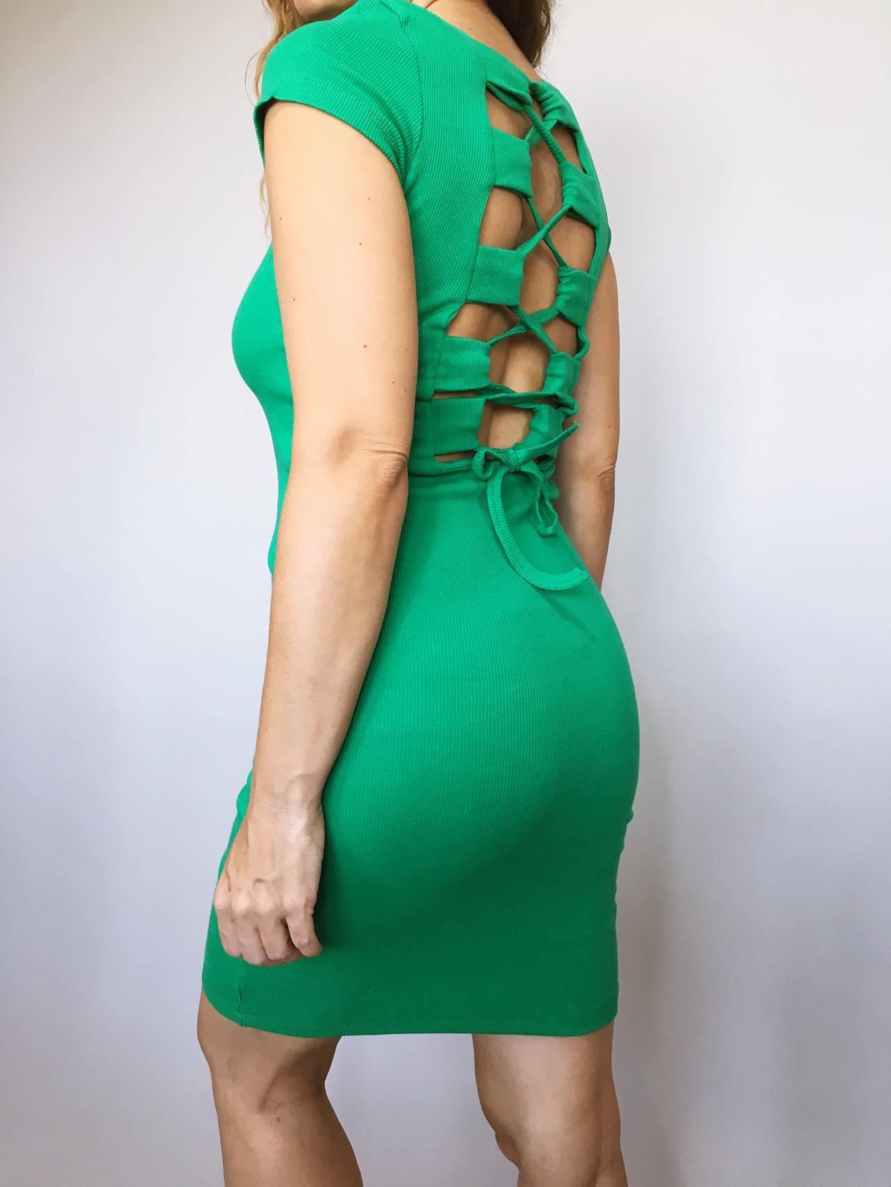 Šaty Jennifer zelené 03
