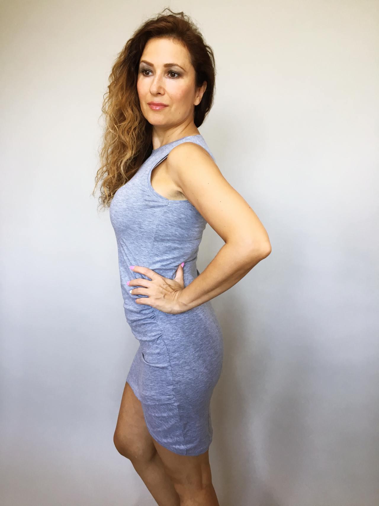 Šaty Lindsay šedé 05