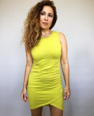 Šaty Lindsay žluté kari 02