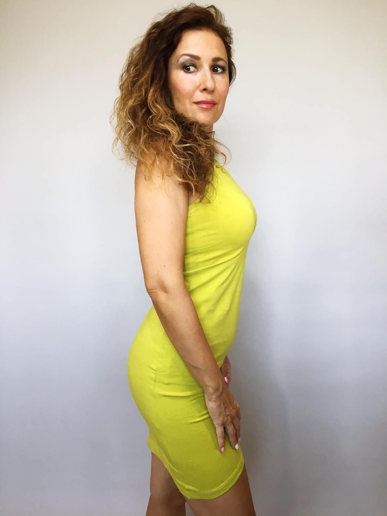 Šaty Lindsay žluté kari 03