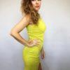 Šaty Lindsay žluté kari 04