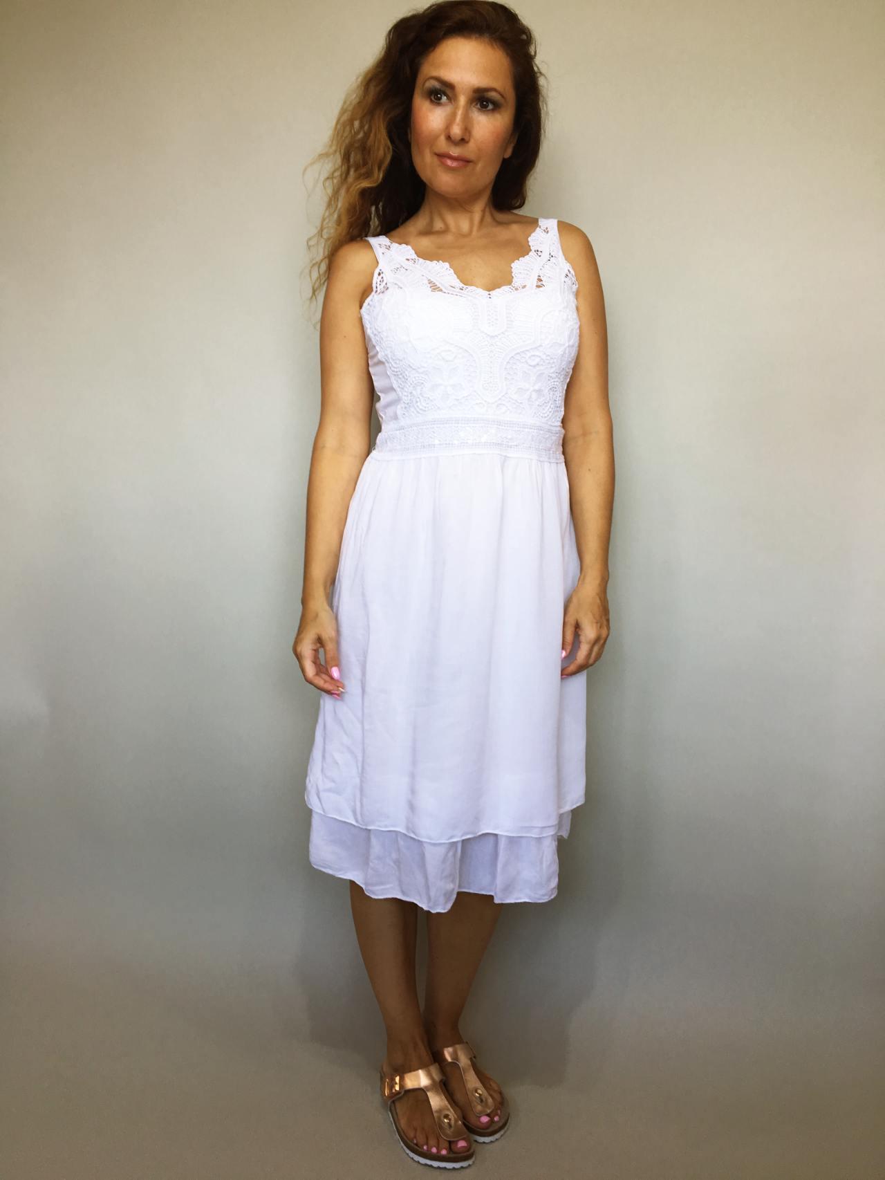 Šaty Luisa bílé 01