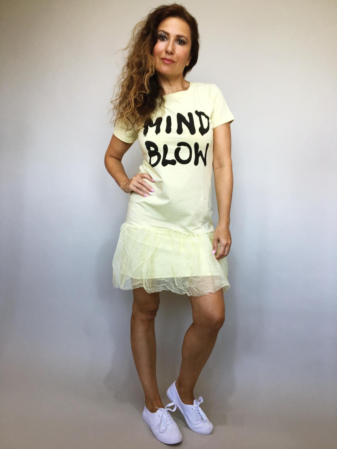 Šaty Mind Blow žluté 01