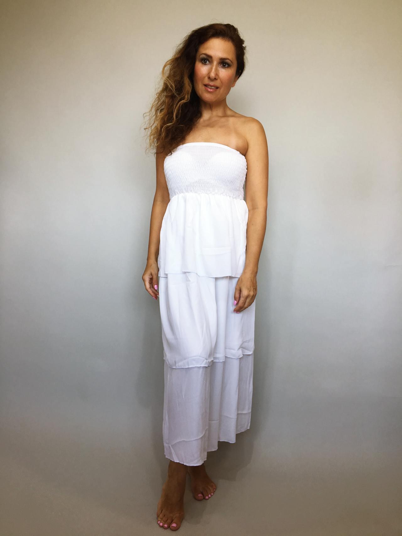 Šaty Summer Day bílé 01
