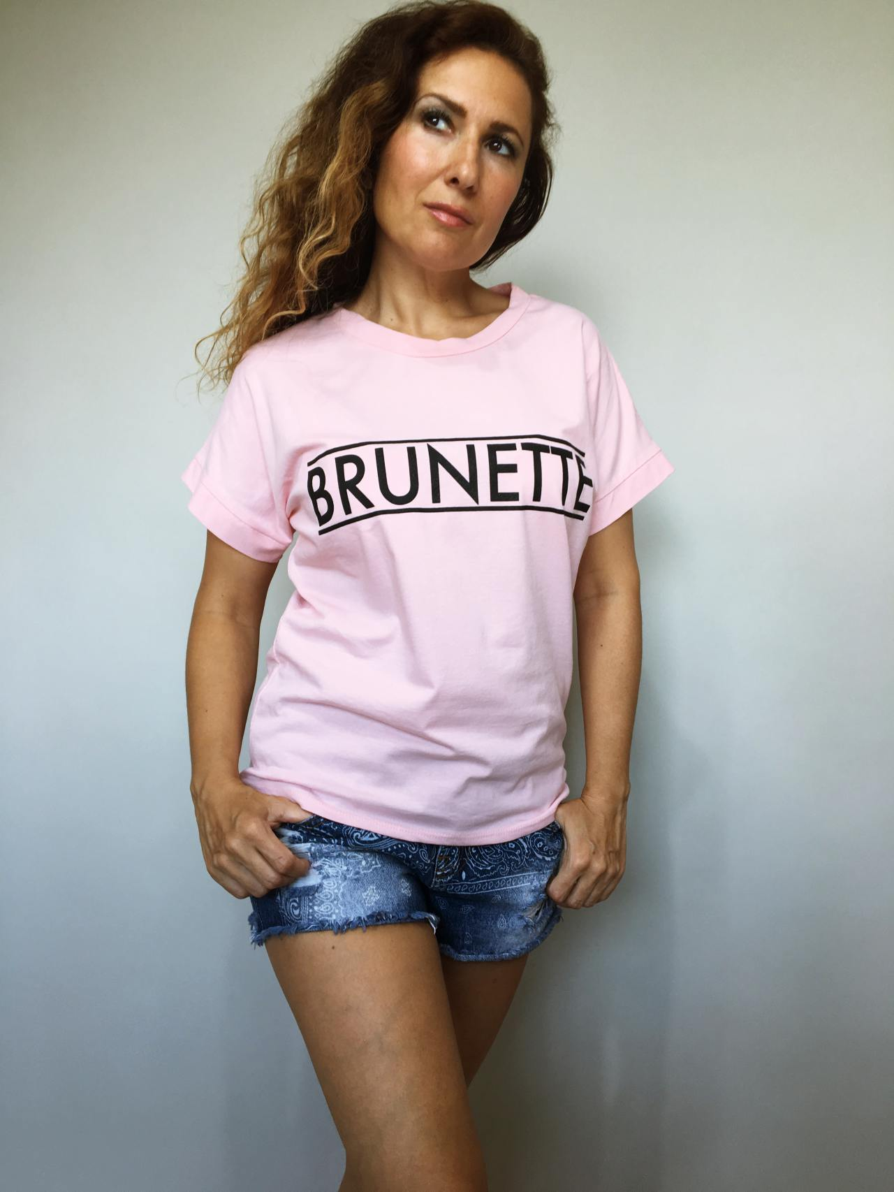Triko Brunette pudrové 02