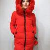 Zimní bunda s kožíškem červená 03