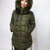 Zimní bunda s kožíškem khaki 03
