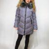 Zimní bunda s kožíškem šedá 04