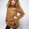 Zimní bunda s kožíškem zlatá 02