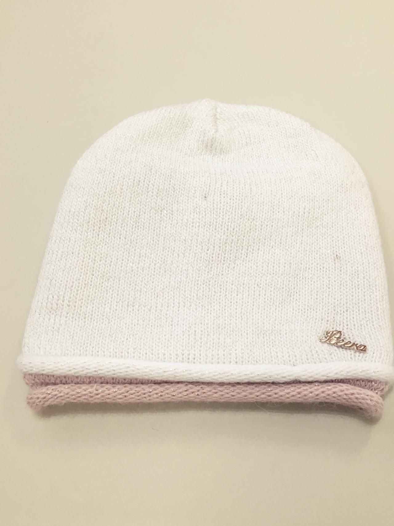 Čepice bílo stříbrná 03