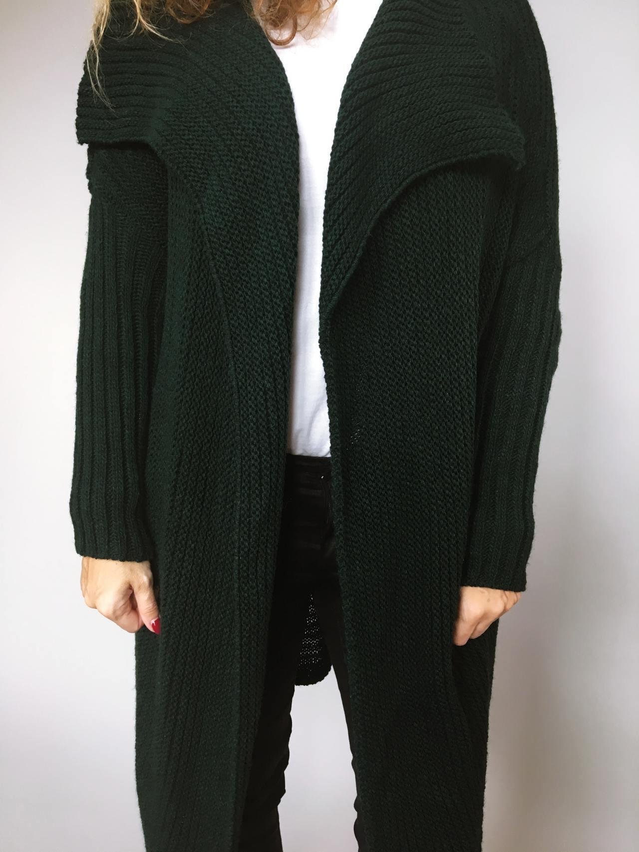 Kardigan Lenny tmavě zelený 03