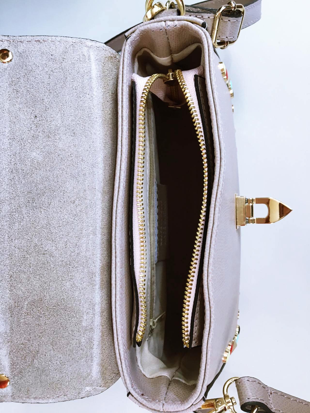 Kožená kabelka Anabell béžová 04