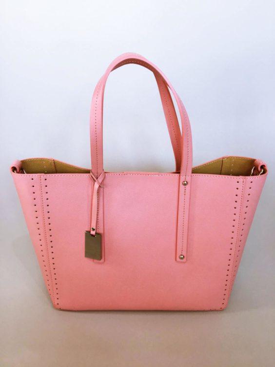 Kožená kabelka Bia růžová 01