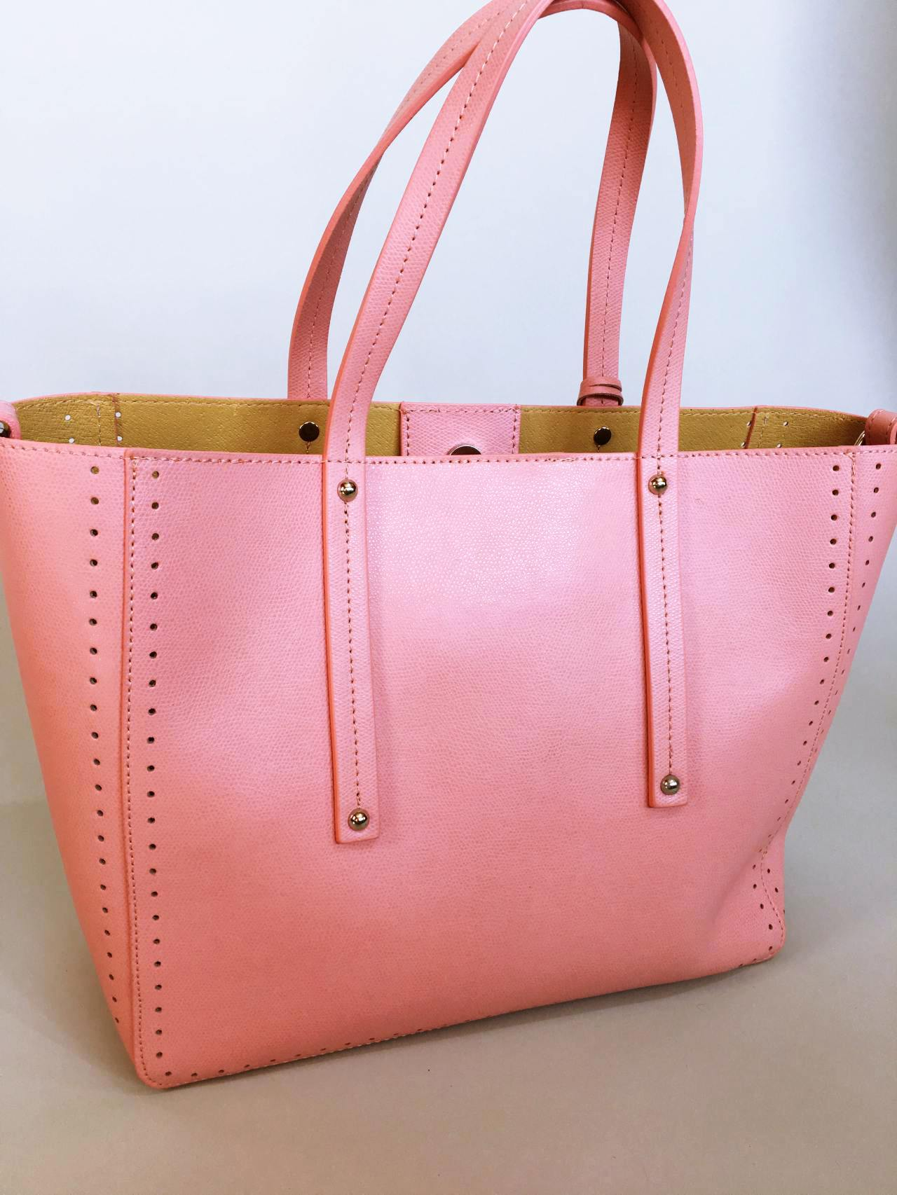 Kožená kabelka Bia růžová 03