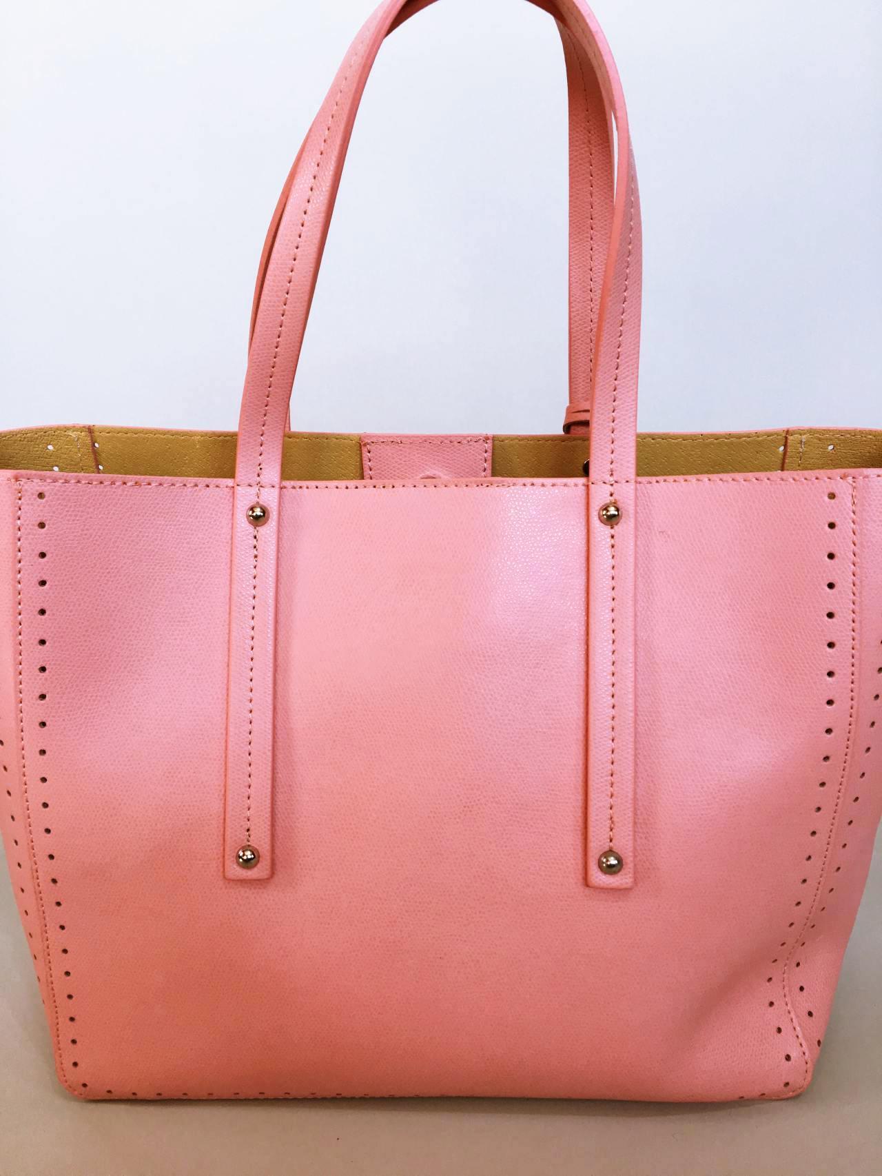 Kožená kabelka Bia růžová 04