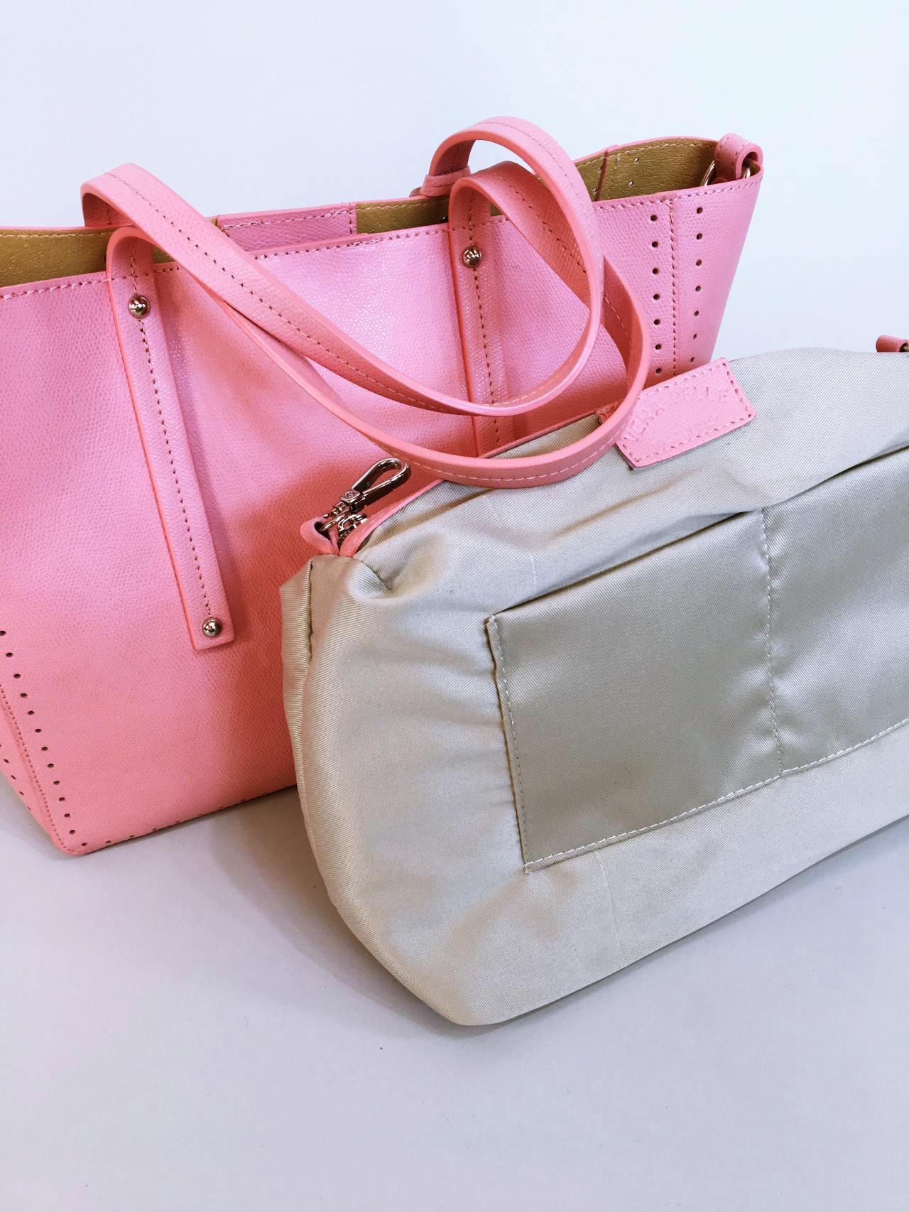Kožená kabelka Bia růžová – Simm-Fashion.cz 5f58a215a1
