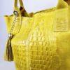 Kožená kabelka Cathrine žlutá 02