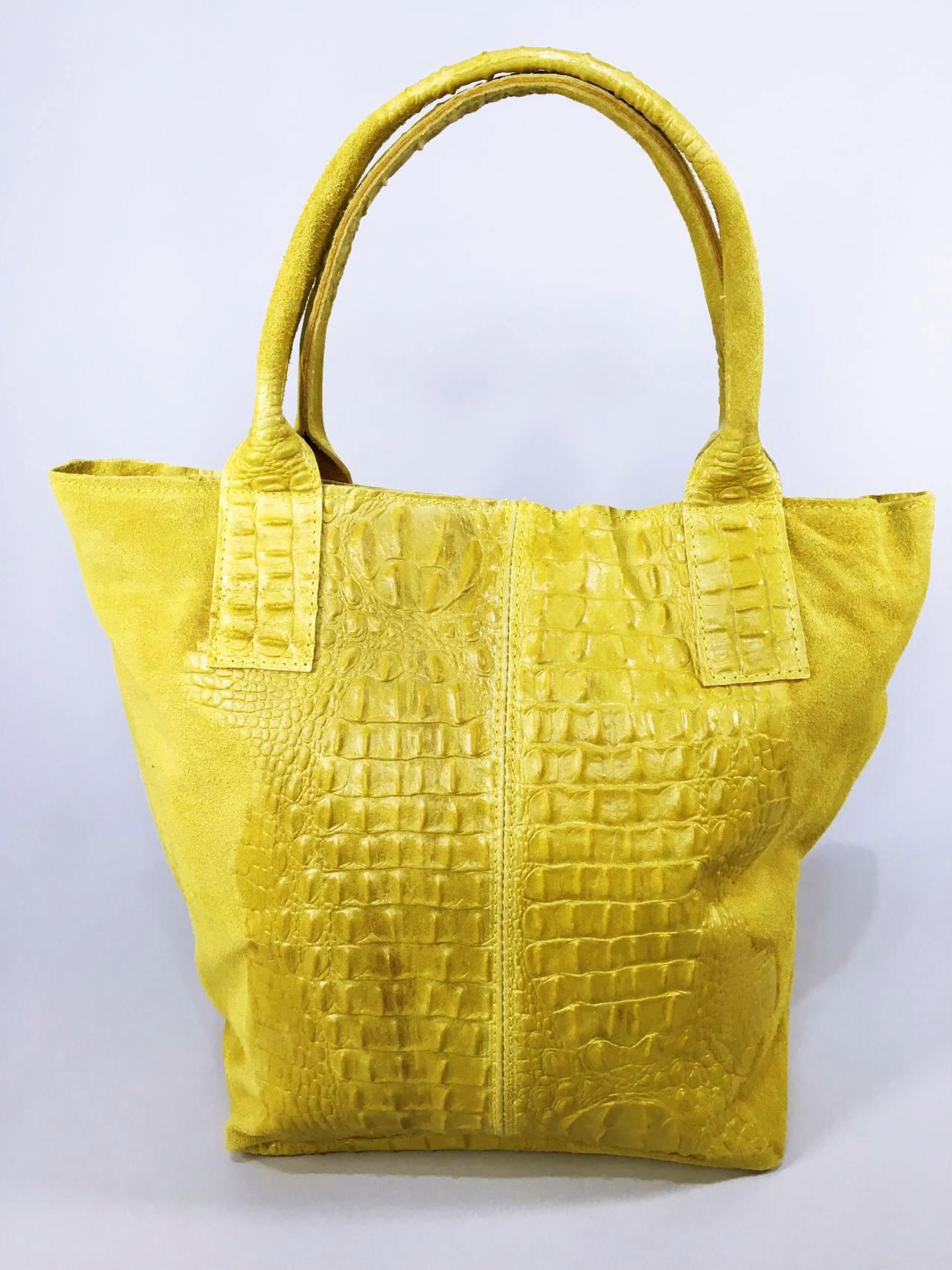 Kožená kabelka Cathrine žlutá 03