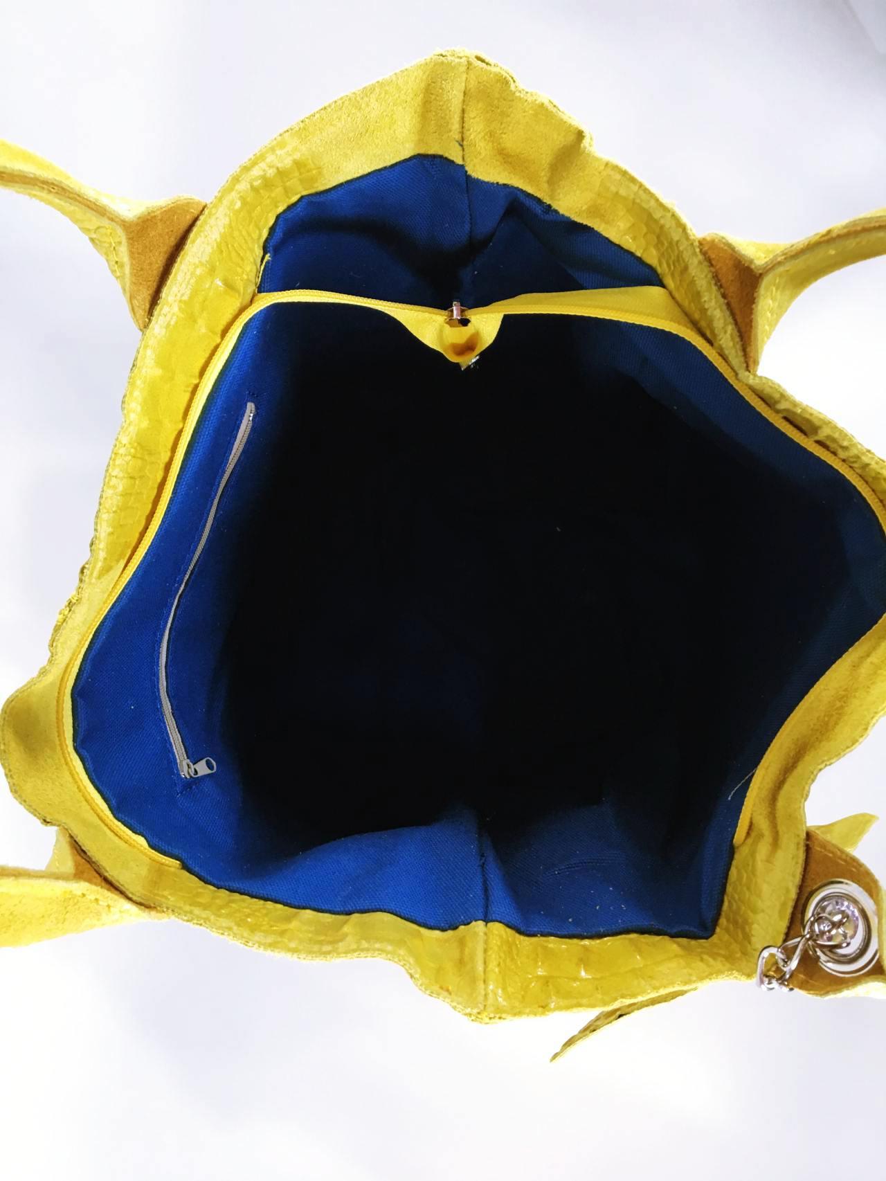 Kožená kabelka Cathrine žlutá 04