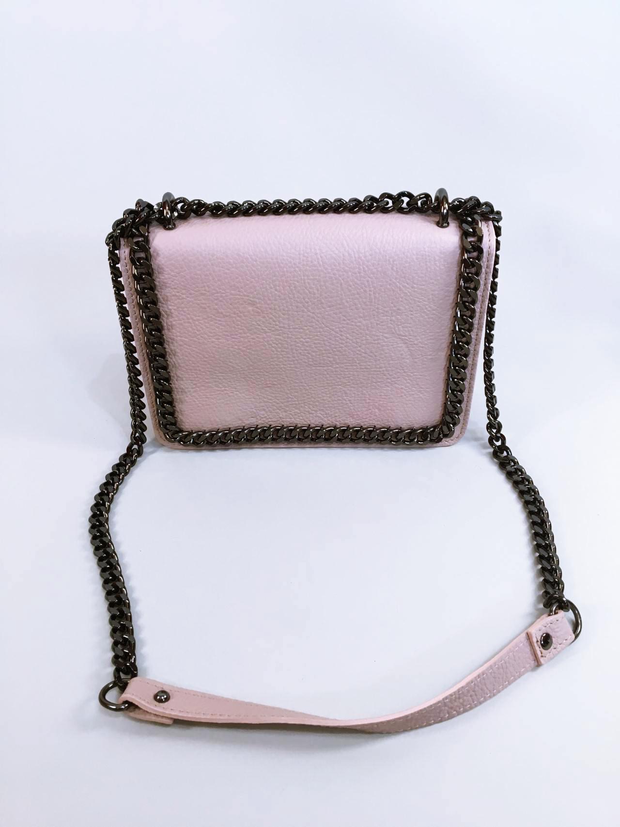 Kožená kabelka Donna pudrová 01