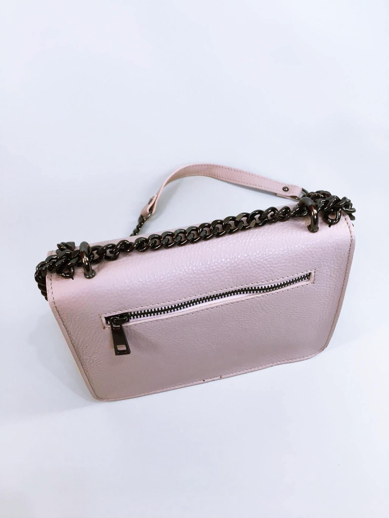 Kožená kabelka Donna pudrová 03